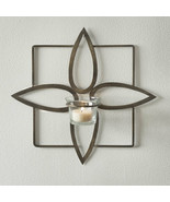 OLIVIA candle Wall Sconce in antiqued brass finish - $32.00