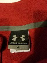 Under Armour Red Fleece Jacket Half Zip Long Sleeve Mens Size XL Extra Large UA  image 10