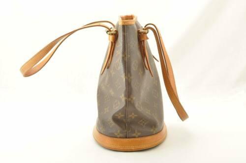LOUIS VUITTON Monogram Bucket PM Shoulder Bag M42238 LV Auth cr194 **No Sticky image 4