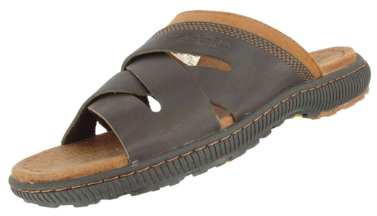 Primary image for TIMBERLAND 7703A MEN'S EARTHKEEPERS HOLLBROOK  LEATHER SLIDE SANDALS US 7 EU 40
