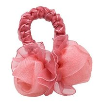 Elegant Rose Hair Rope Ponytail Holders Hair Headwear, Pink