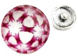 USA SELLER Interchangeable Button Snap Jewelry Pink Kaleidoscope Image 1... - $5.92