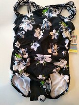 Swim Solutions Floral Bust Support Underwire One Piece Swimwear Size 12 image 1