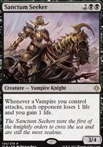 Magic the Gathering Sanctum Seeker Creature Single Card Mint Free Shipping - $5.50