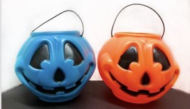 2 General Foam Plastics Blue Jack o Lantern Pumpkin Bucket Halloween Blo... - €16,82 EUR