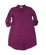 Entro Dress Size Small Purple 3/4 Long Sleeve Button Down Collared Tunic... - $13.21
