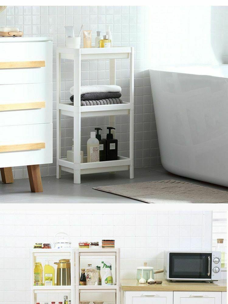 Rack Shelf Kitchen Side Plastic Storage Shelves Multi Functional House Organizer image 7