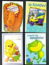 Lot of 4 Assorted Easter Grandson Greeting Cards With Envelopes New Duck... - $11.34
