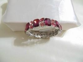 Charter Club Silver-Tone Stone & Crystal Cluster Stretch Bracelet H920 $34 - $14.39