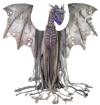 Winter Dragon Animated Prop 7' Animatronic Halloween Decoration - $399.99