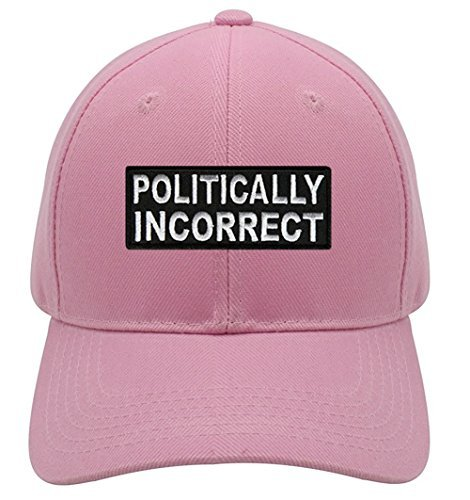 Politically Incorrect Hat - Pink Adjustable Womens