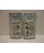 12 Pack 2'' Hair Clip Barrette Silver Metal Clamp Women Girl Craft Fashi... - $8.46
