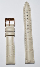 Original Tissot PR 100 LADY 16mm Beige Leather Watch Band Strap For T101210 - $68.00