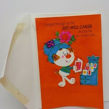 Vintage Hallmark Greeting Card Get Well Puppy Dog Cute Orange Coutts Canada - $4.73