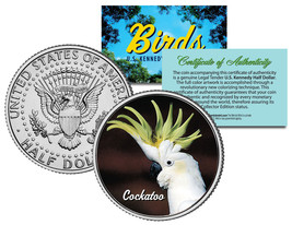 COCKATOO BIRD JFK Kennedy Half Dollar US Colorized Coin - $8.86