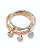 LongWay 3 PCS/Set Gold Color Tree Of Life Charm bracelets & bangles Roun... - $10.10