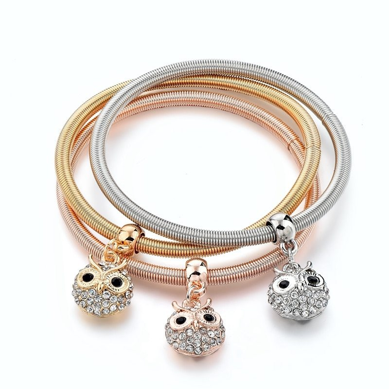 Primary image for LongWay 3 PCS/Set Gold Color Tree Of Life Charm bracelets & bangles Round Crysta