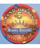 $5 Casino Chip. Sunset Station, Henderson, NV. Grand Opening 1997. W18. - $6.99