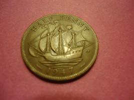 1947 ENGLISH HALF PENNY -SHIP COIN- NAVY & COAST GUARD VETS- COMBINED SH... - $2.17