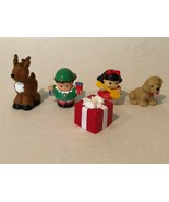 Fisher Price Little People Christmas Figures Toys Elf Reindeer Puppy Dog... - $19.99