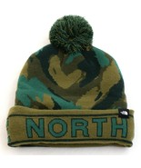 The North Face Green Camo Knit Cuff Pom Beanie Youth Boy's 8-20 NWT - $39.59