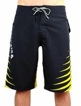 NEW DC SHOES MEN'S PREMIUM BOARD SHORTS SURF TRUNKS SWIMWEAR STRETCH YELLOW image 3