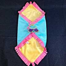 Disneyland Disney Babies Blanket for Dumbo Plush Blue Pink Yellow Fringe... - $6.93