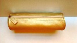 Estee Lauder Metallic Gold Makeup Cosmetic Bag Vintage  - $9.99