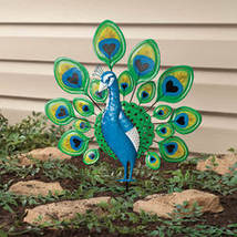 Peacock Lawn Stake by Maple Lane Creations - $29.98