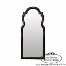 LaBarge Hand Painted Black & Gold Chinoiserie Hanging Wall Mirror - $795.00