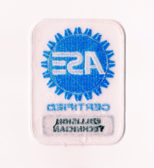 ase patch certified collision technician patches mechanic rod garage seller