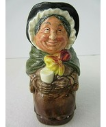 Royal Doulton Sairey Gamp  4 1/4 in. Toby Jug Pitcher Dickens Series A  ... - $46.23