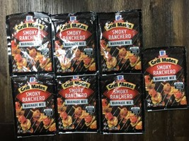 7 McCormick Grill Mates SMOKY RANCHERO Marinade Mix 1.25oz Each 2/22 - 07/2022 - $33.99