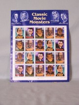 Classic Movie Monsters USA Postage 32 cent Mint Sheet - face value $6.40 - $9.95