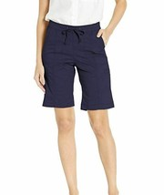 LEE Women's Flex-to-go Relaxed Fit Pull-on Cargo Bermuda Short Blue 6 Medium M image 1