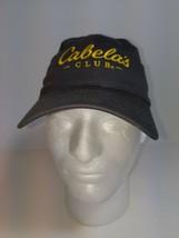 Cabelas Club Gray Yellow Adjustable StrapBack Hat Sports Cap One Size EUC - $16.34