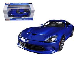 2013 Dodge Viper SRT GTS Blue 1/24 Diecast Car Model by Maisto - $23.99