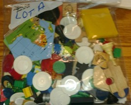 one pound toy game piece token junk drawer Lot A - mixed media art - $17.81