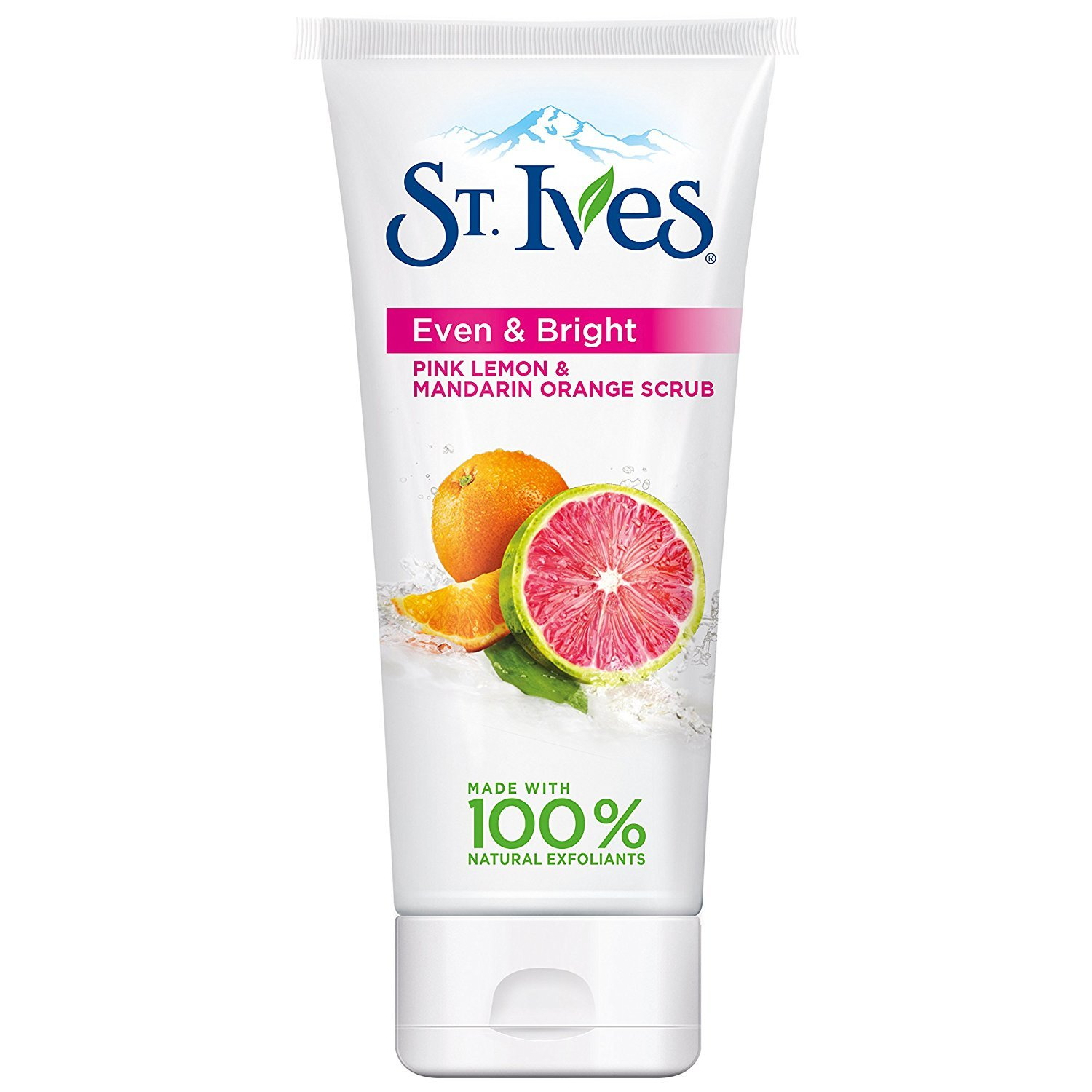 St. Ives Radiant Skin Face Scrub, Pink Lemon and Mandarin Orange, 6 oz