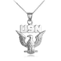 Sterling Silver  US Navy Pendant Necklace - €19,82 EUR+