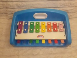Little Tikes Vtg 1985 Xylophone Piano Tap A Tune Blue Toy Learn Play Music Baby - $29.20