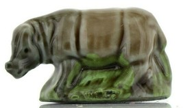 Rhinoceros Miniature Porcelain Animal - Whimsies by Wade