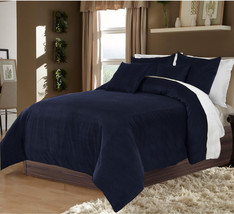 Hotel Collection Bedding,100% Duvet Quilt Cover set 3pc - Navy Blue - $92.72+
