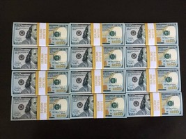 100.000 Prop Money 10 Stack Replica 100s New All Full Print For Movie Video Etc. - $180.99