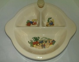 Excello Vintage 1945 Porcelain Baby Warming Dish South Western  Mexican ... - $12.86