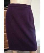 NWT Escada Neiman Marcus Purple High Waisted Rabbit Wool Angora Pencil S... - $85.49