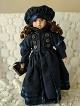"""Dynasty Porcelain Doll With Her Diary Blue Dress Hat Vintage 16"""" - $24.24"""