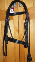Bobby's F/S BLACK Padded Contoured MonoCrown Snaffle (NON Flash) Bridle ... - $143.10