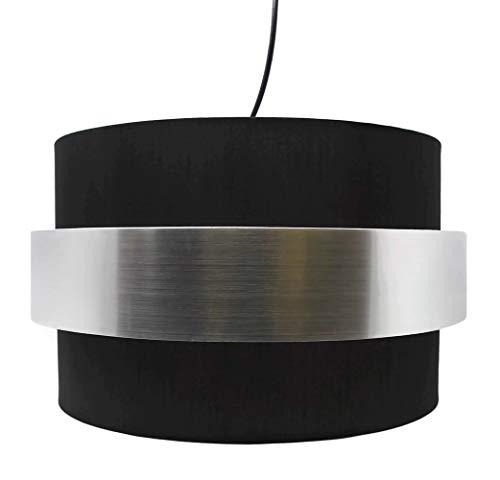 Urbanest Angelo Hanging Lamp Shade Pendant with Metallic Accent, Diffuser Includ