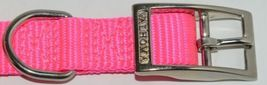 Valhoma 730 14 HP Dog Collar Hot Pink Single Layer Nylon 14 inches Package 1 image 3